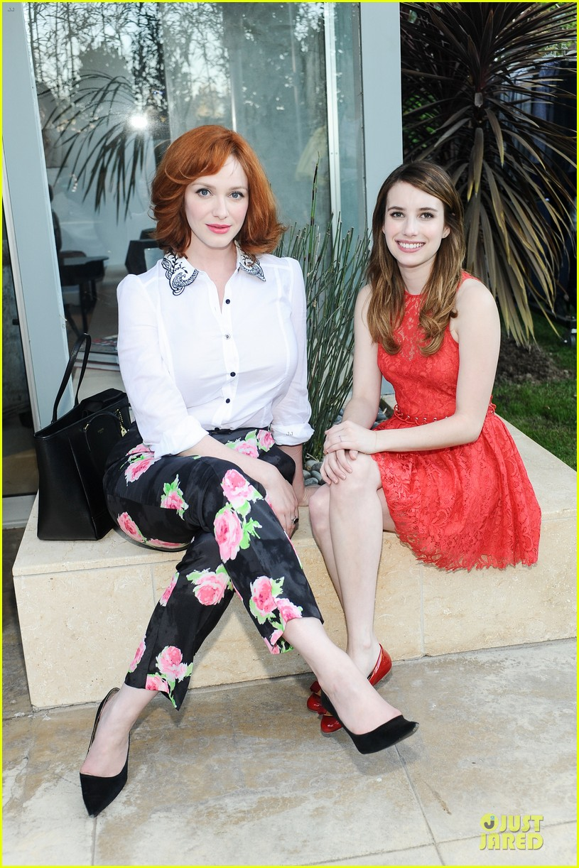 emma roberts hilary duff theodora callum coach cocktail party 012830925