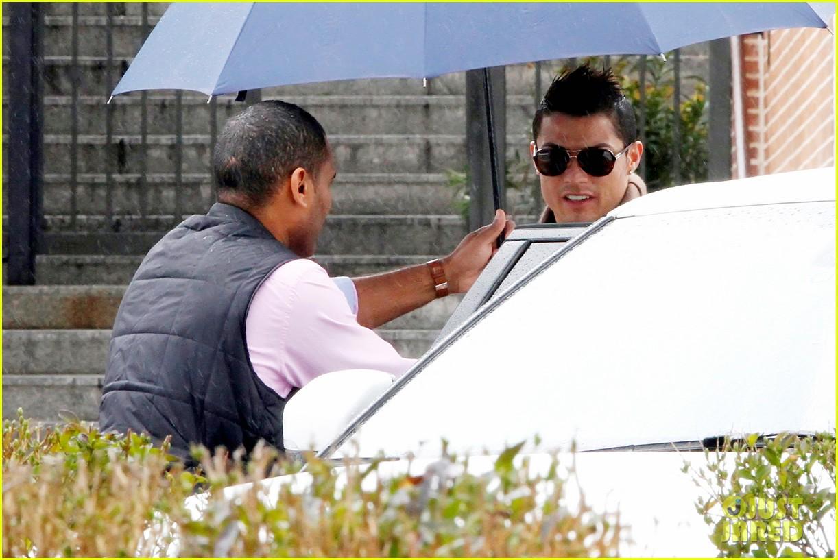 cristiano ronaldo rainy madrid day with cristiano jr 102826225