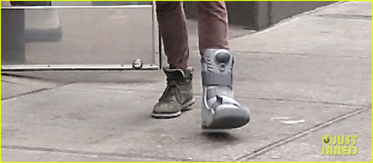 shia labeouf foot brace in new york city 042838101