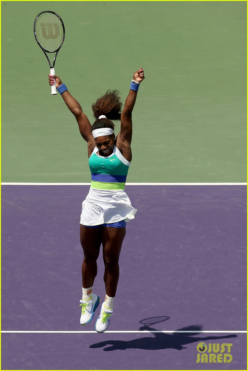 serena williams sony open victory portraits 222840690