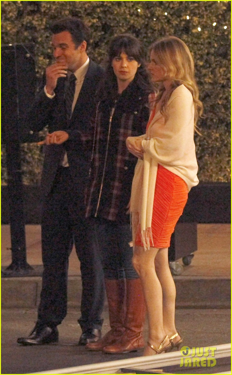 zooey deschanel beso new girl filming 152826167