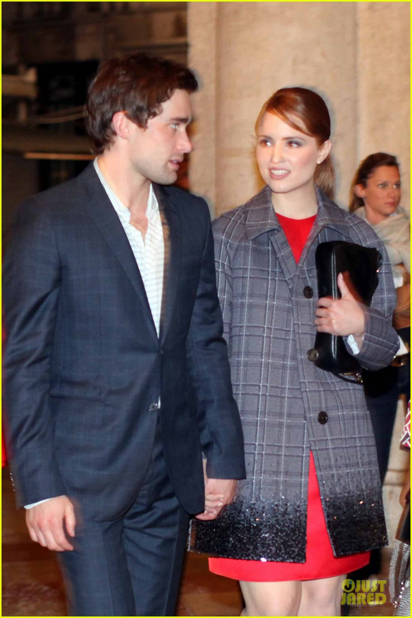 dianna agron christian cooke louis vuitton store opening 02