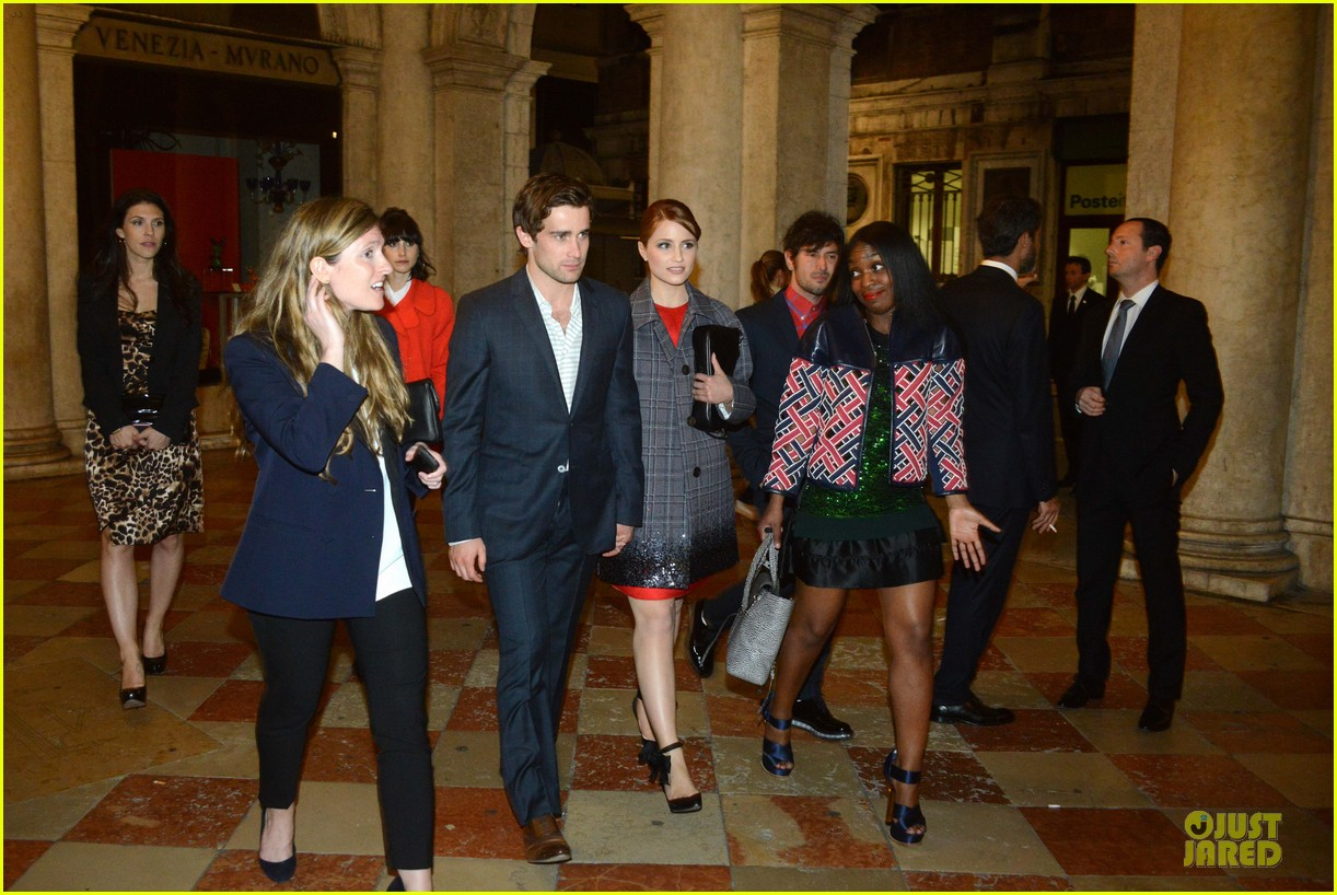 dianna agron christian cooke louis vuitton store opening 09