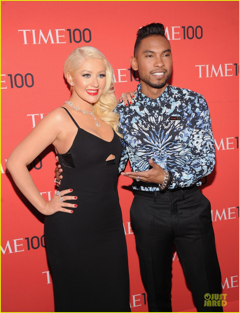 christina aguilera miguel time 100 gala 2013 red carpet 12