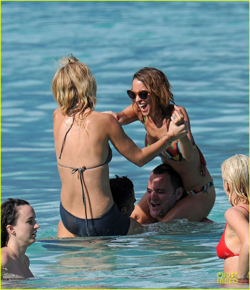 jessica alba nicole richie bikini clad gal pals 142844497