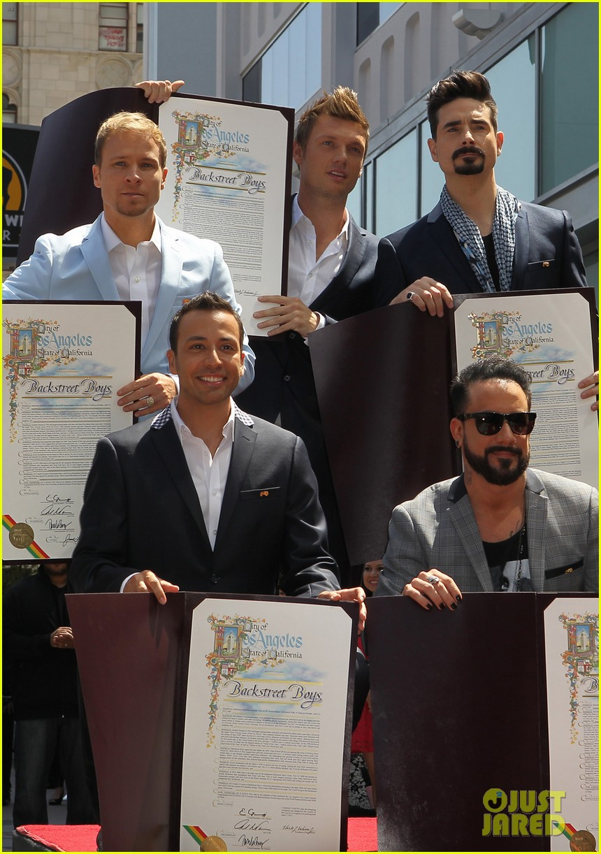backstreet boys hollywood walk of fame ceremony 042855889