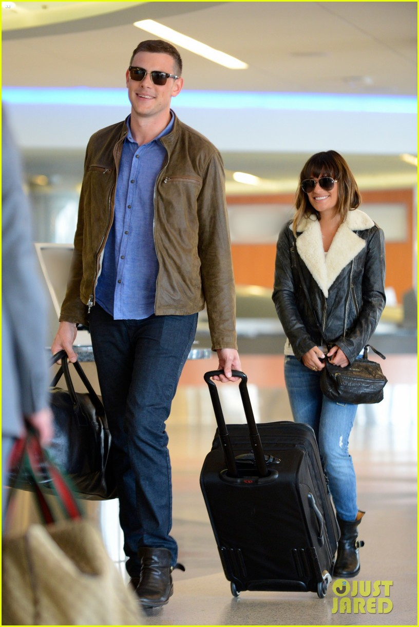 cory monteith first post rehab pics with lea michele 03