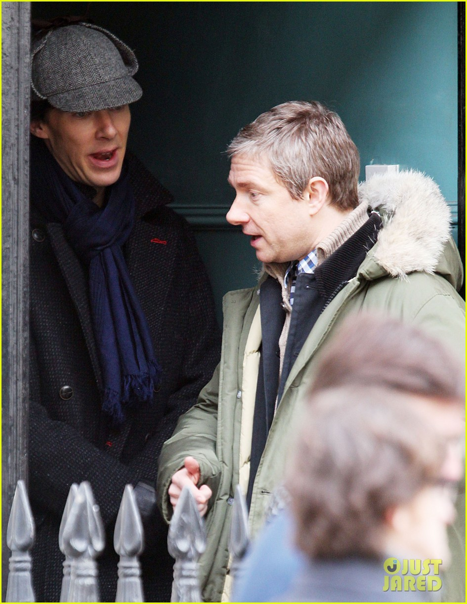 benedict cumberbatch sherlock set with martin freeman 162847071