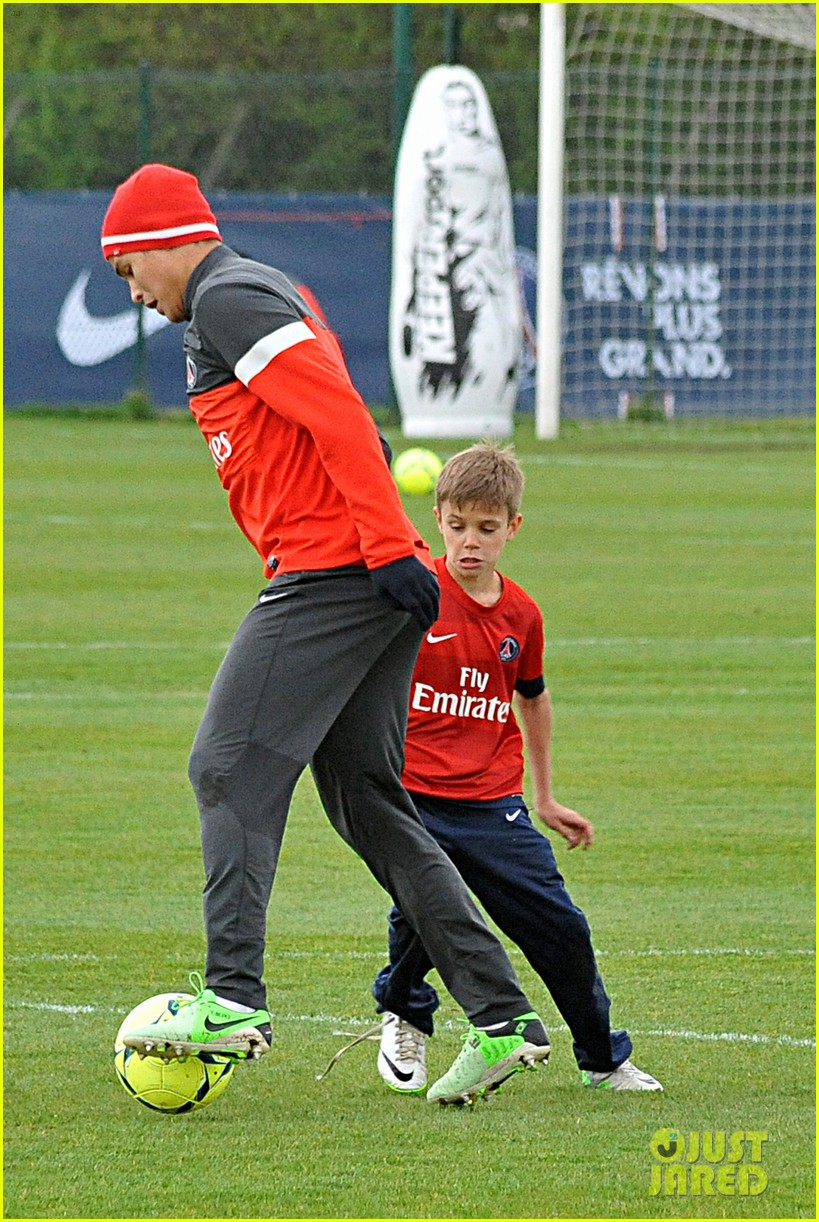 david beckham soccer camp with his sons 05
