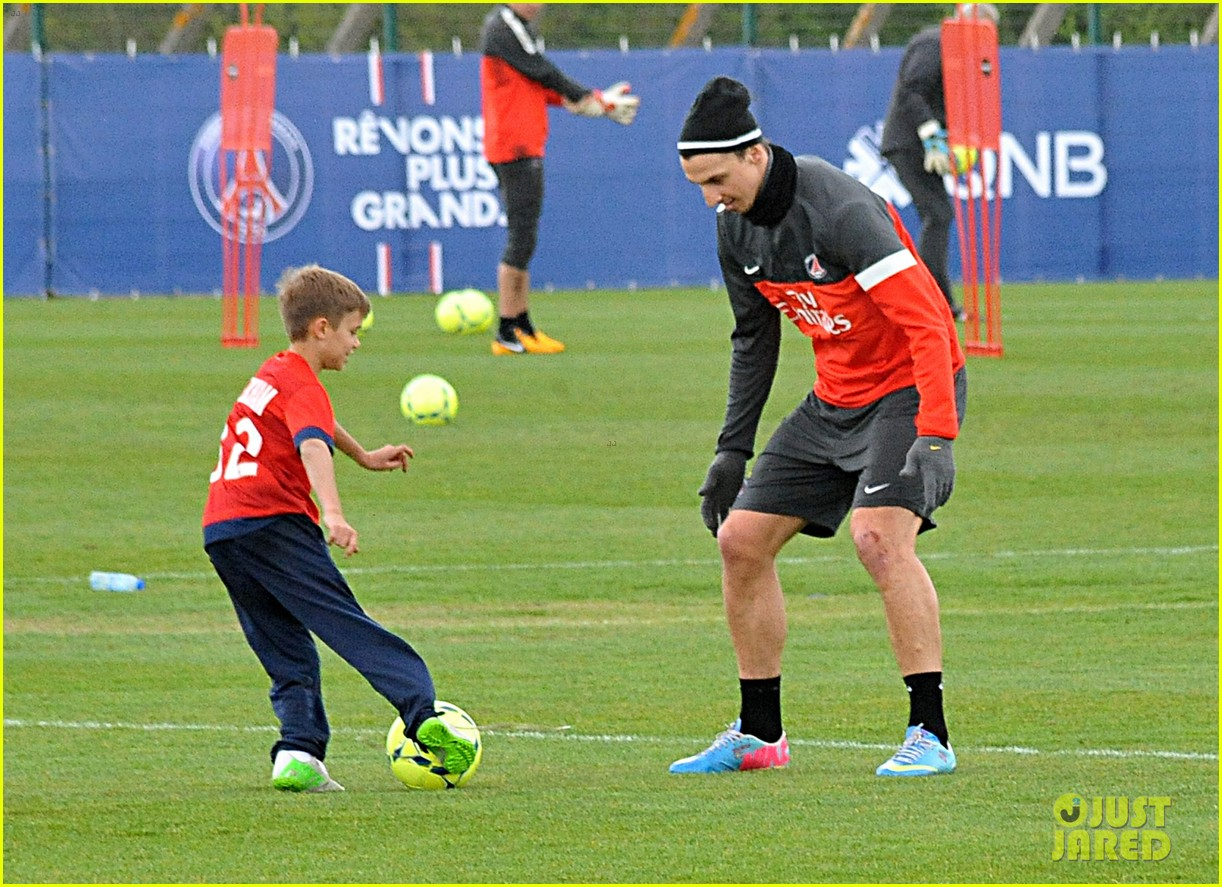 david beckham soccer camp with his sons 11