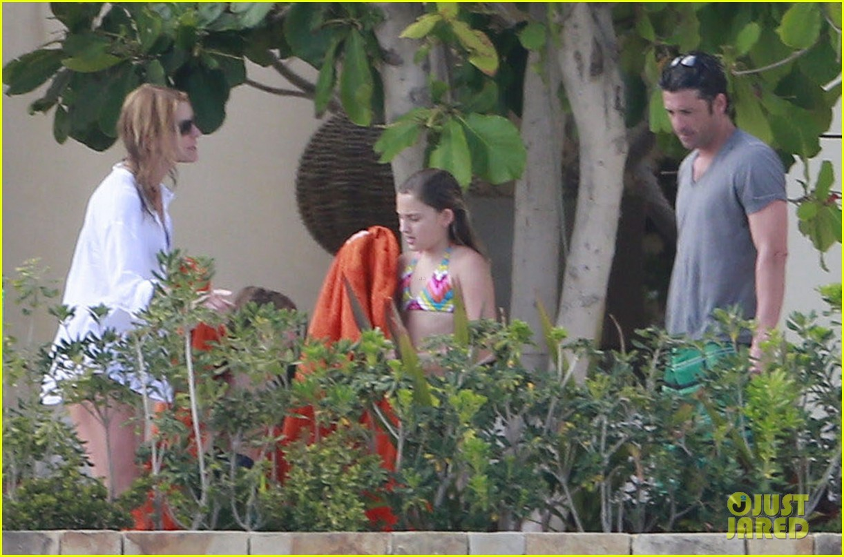 patrick dempsey shirtless mexico vacation with the family 30