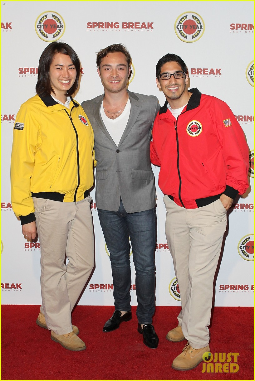ed westwick jessica szohr city year los angeles fundraiser 2013 12