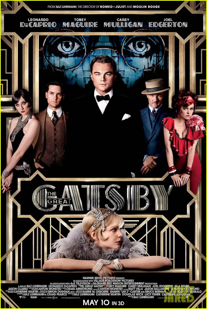 leonardo dicaprio carey mulligan new great gatsby poster