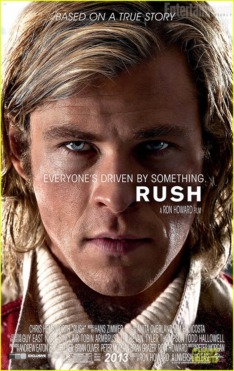chris hemsworth rush close up poster 052856818