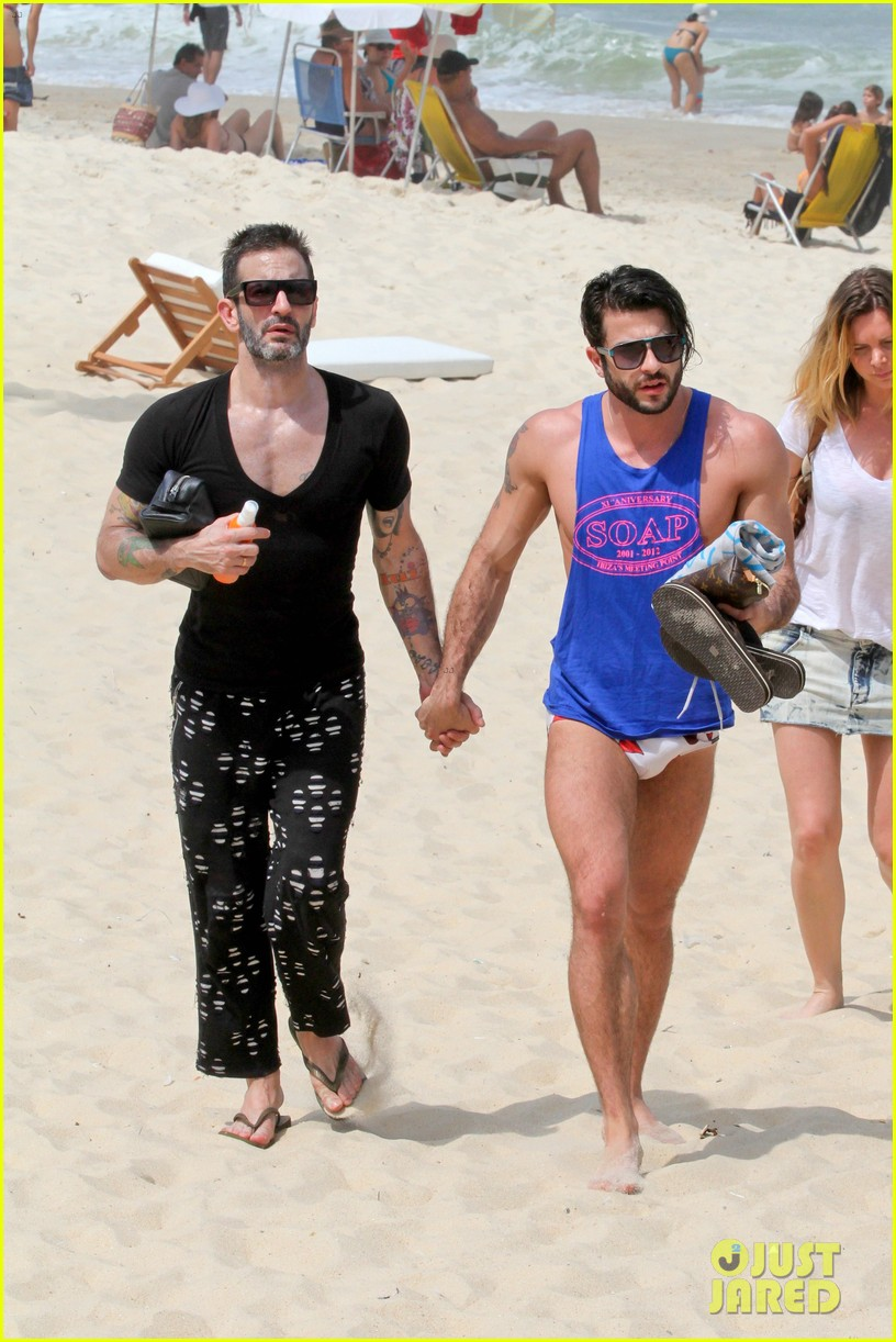 marc jacobs harry louis shirtless speedo pda in rio 18
