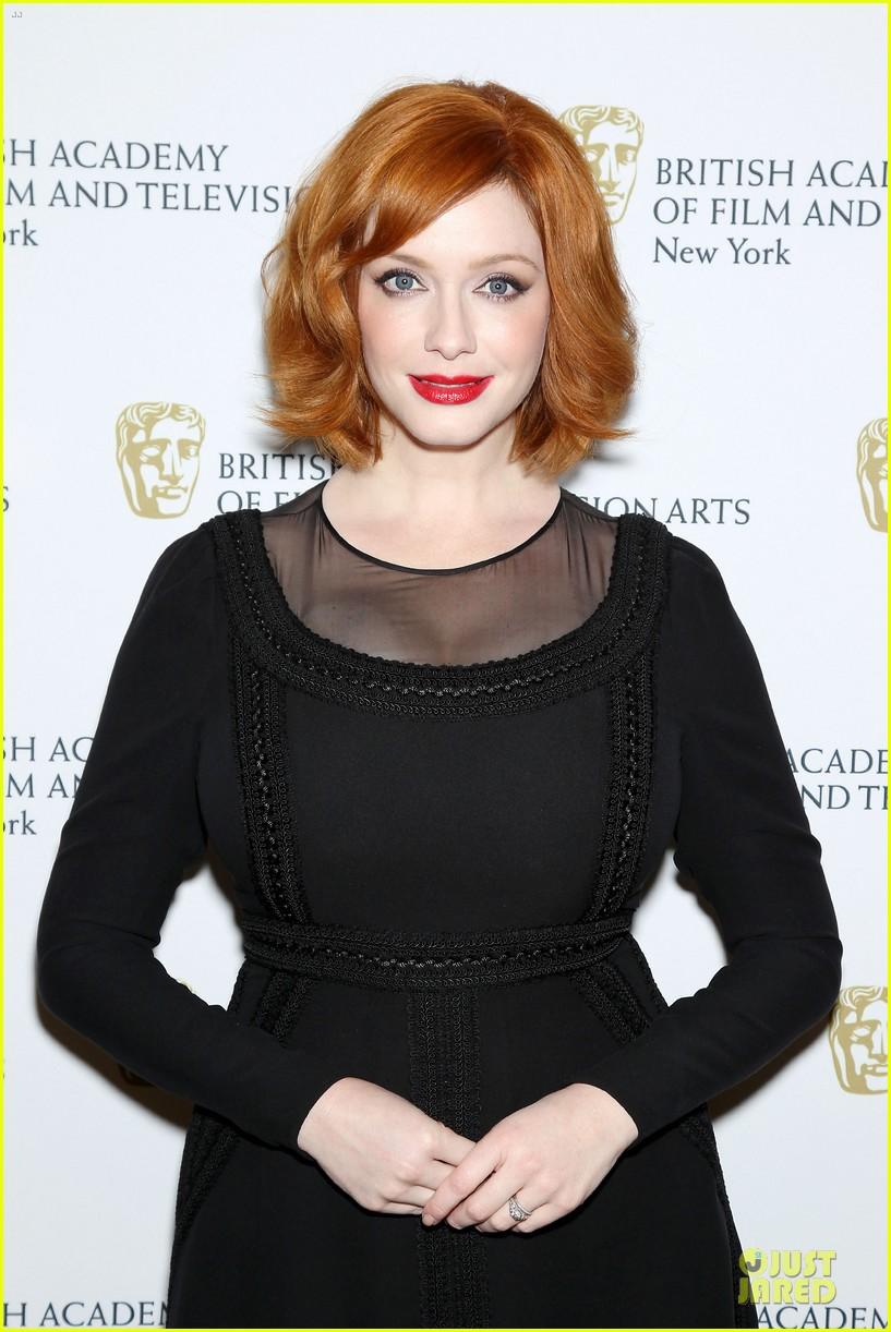 january jones christina hendricks bafta mad men panel 30