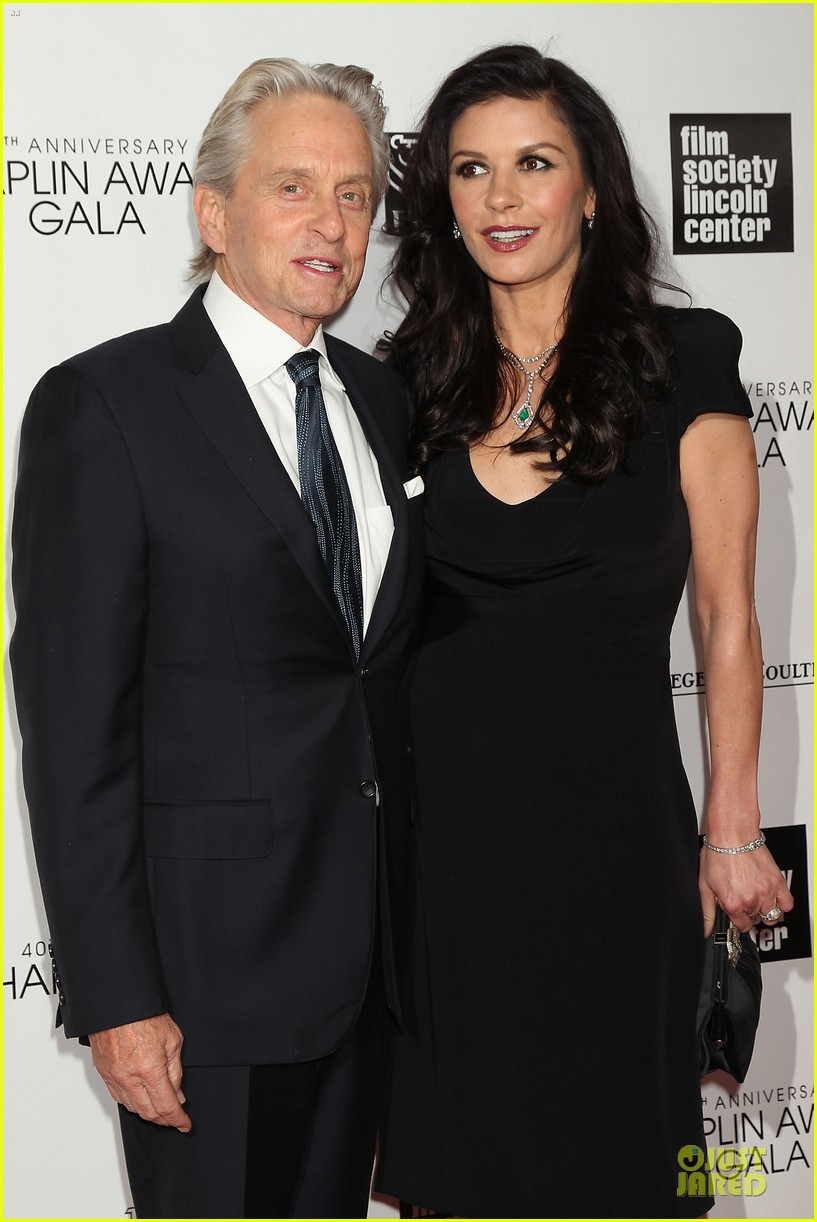 catherine zeta jones michael douglas chaplin award gala 09