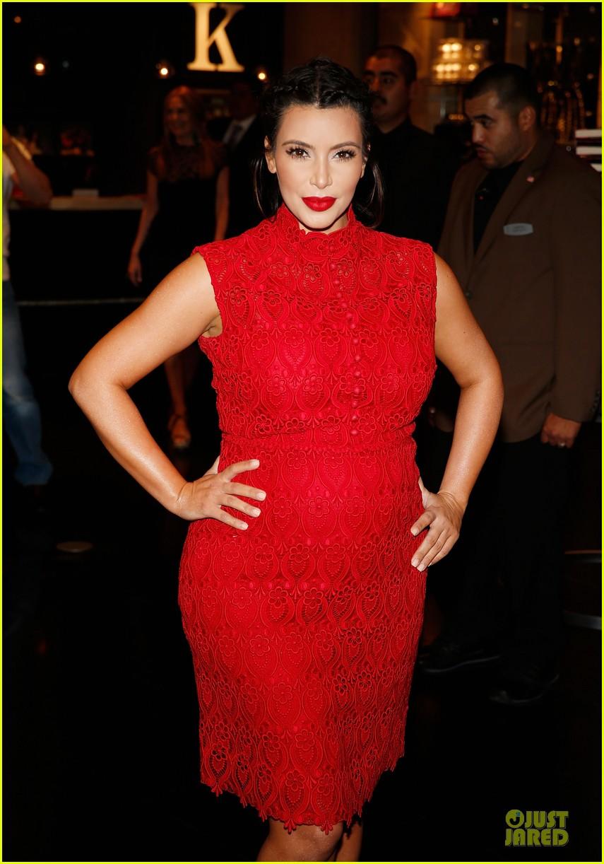 pregnant kim kardashian glam perfume promotion in las vegas 242848936