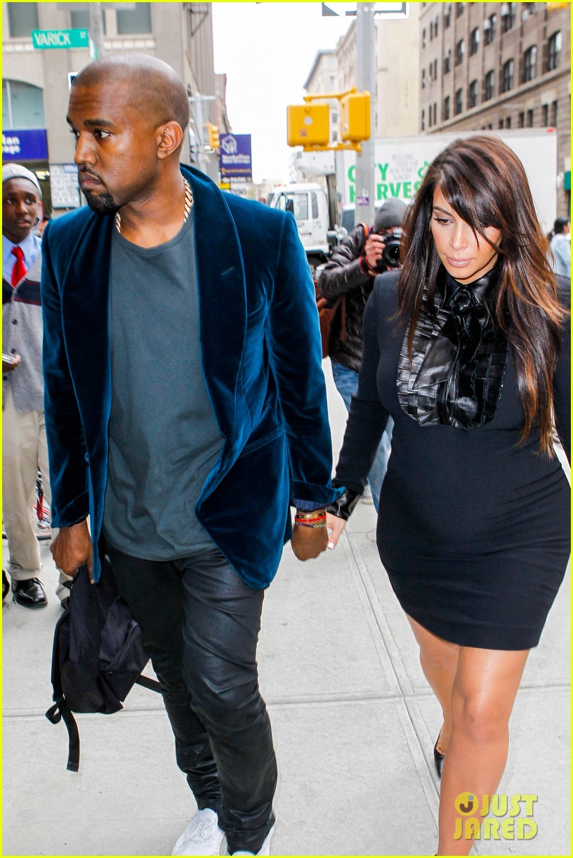 kim kardashian kanye west hold hands in nyc 12
