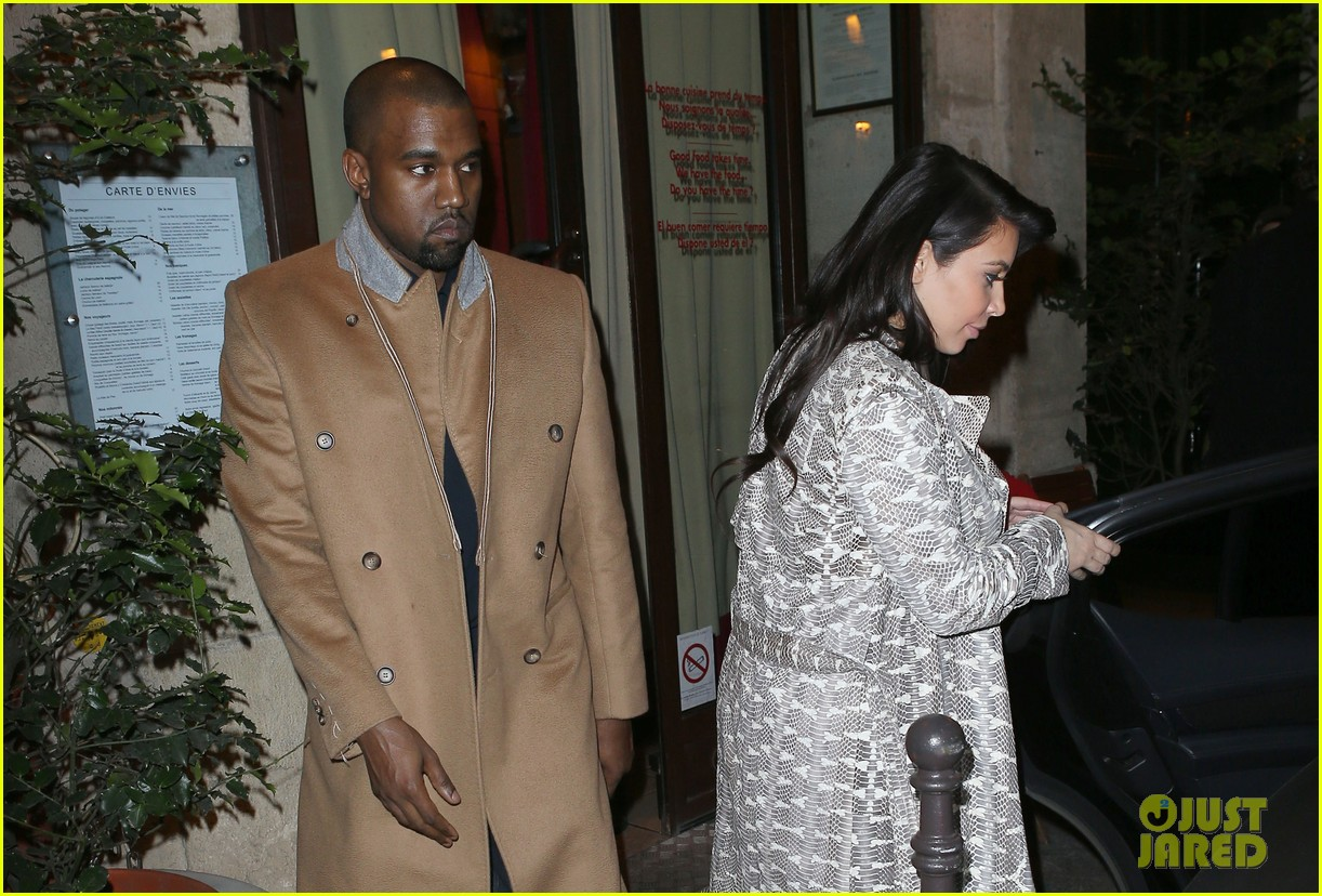 kim kardashian pregnant paris getaway with kanye west 132841973