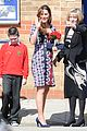 kate middleton pregnant baby bump at willows school 08