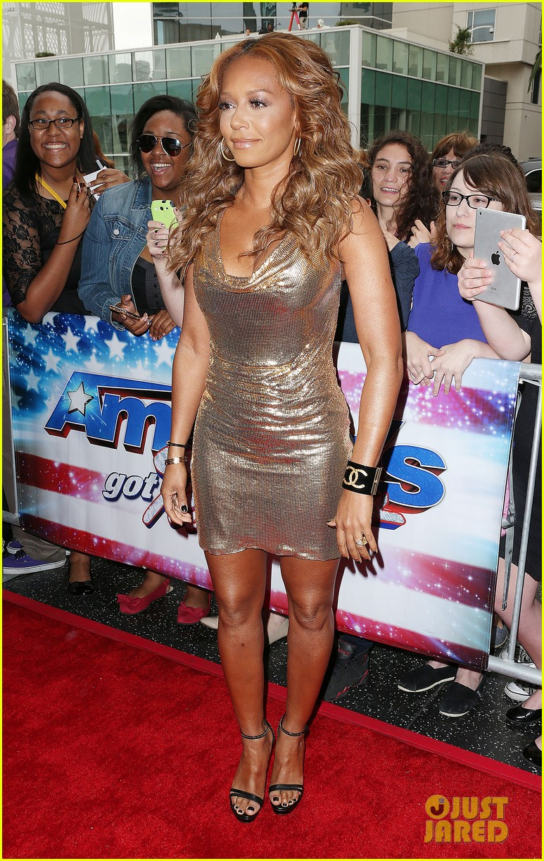 heidi klum mel b americas got talent in los angeles 192857511
