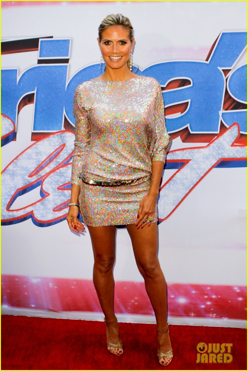 heidi klum mel b americas got talent in new york 012845449