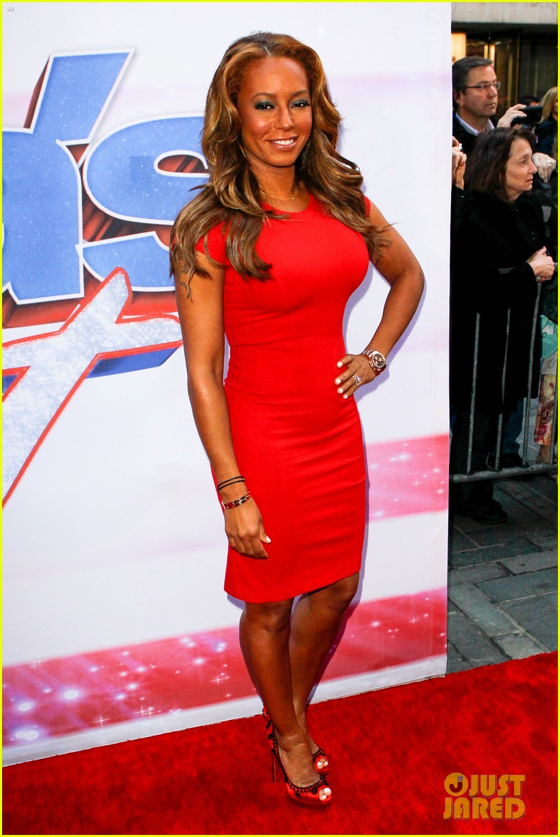 heidi klum mel b americas got talent in new york 032845451