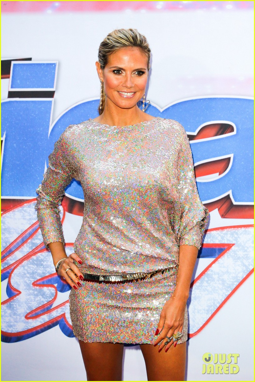 heidi klum mel b americas got talent in new york 09