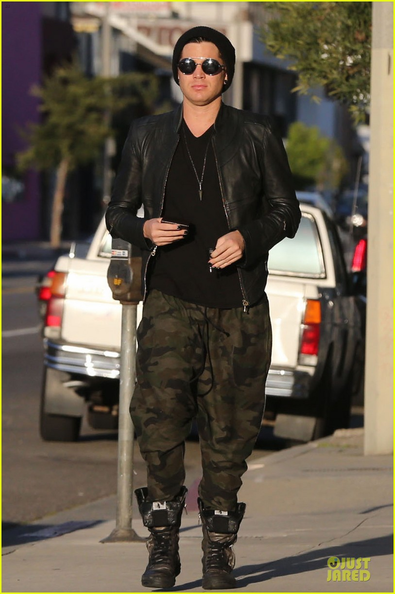 adam lambert camouflaged pants meeting 162846561