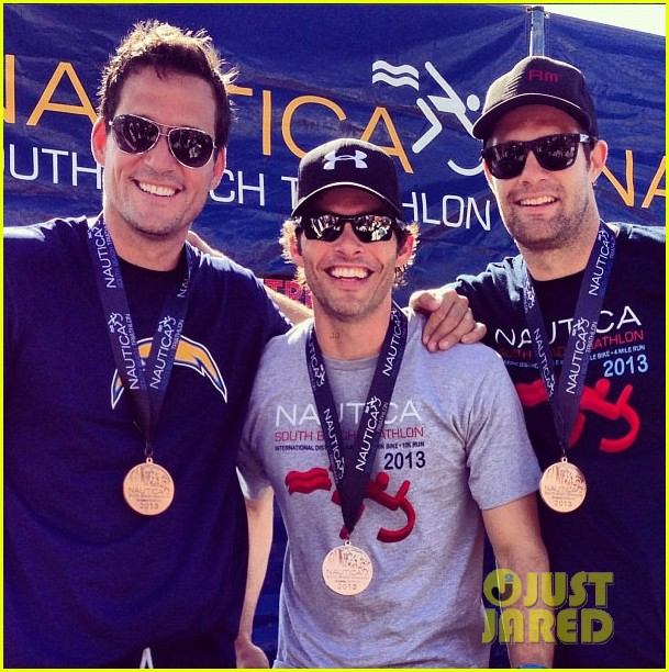 james marsden geoff stults nautica triahtlon in miami 04