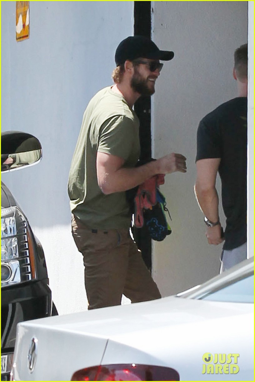miley cyrus liam hemsworth separate cali outings 05