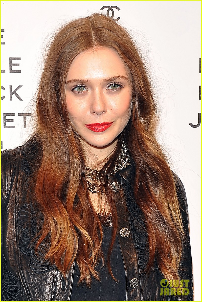 elizabeth olsen chanel little black jacket event 292843490