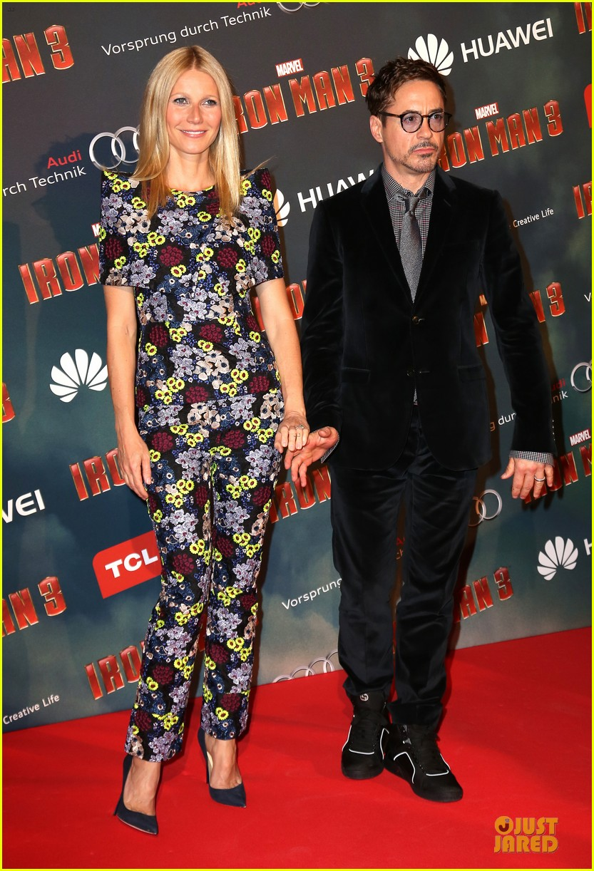 gwyneth paltrow robert downey jr iron man 3 paris premiere 09