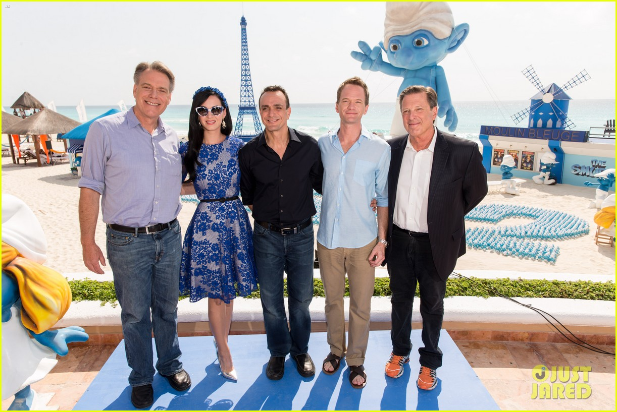 katy perry neil patrick harris smurfs 2 at summer of sony 20