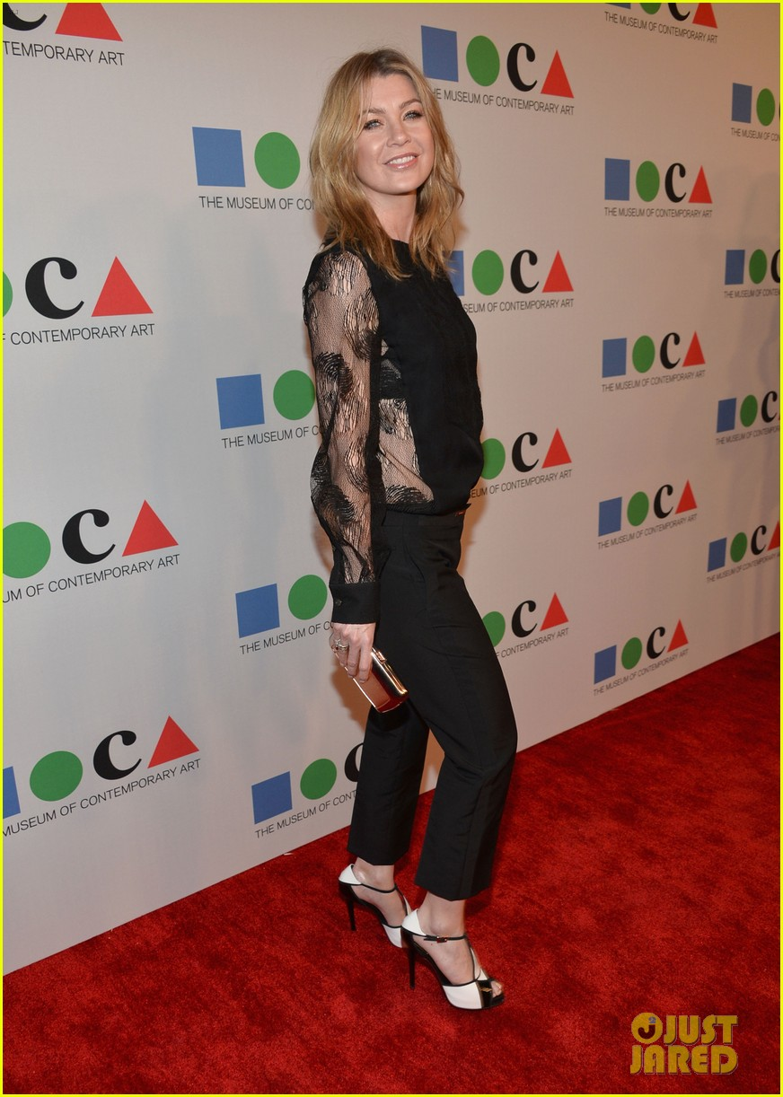 ellen pompeo moca gala 2013 with chris ivery 03
