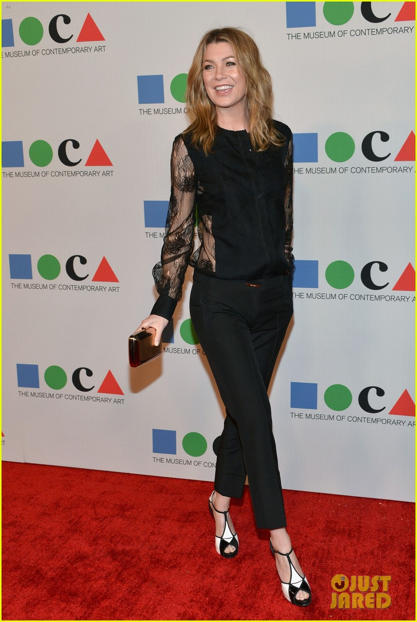 ellen pompeo moca gala 2013 with chris ivery 06
