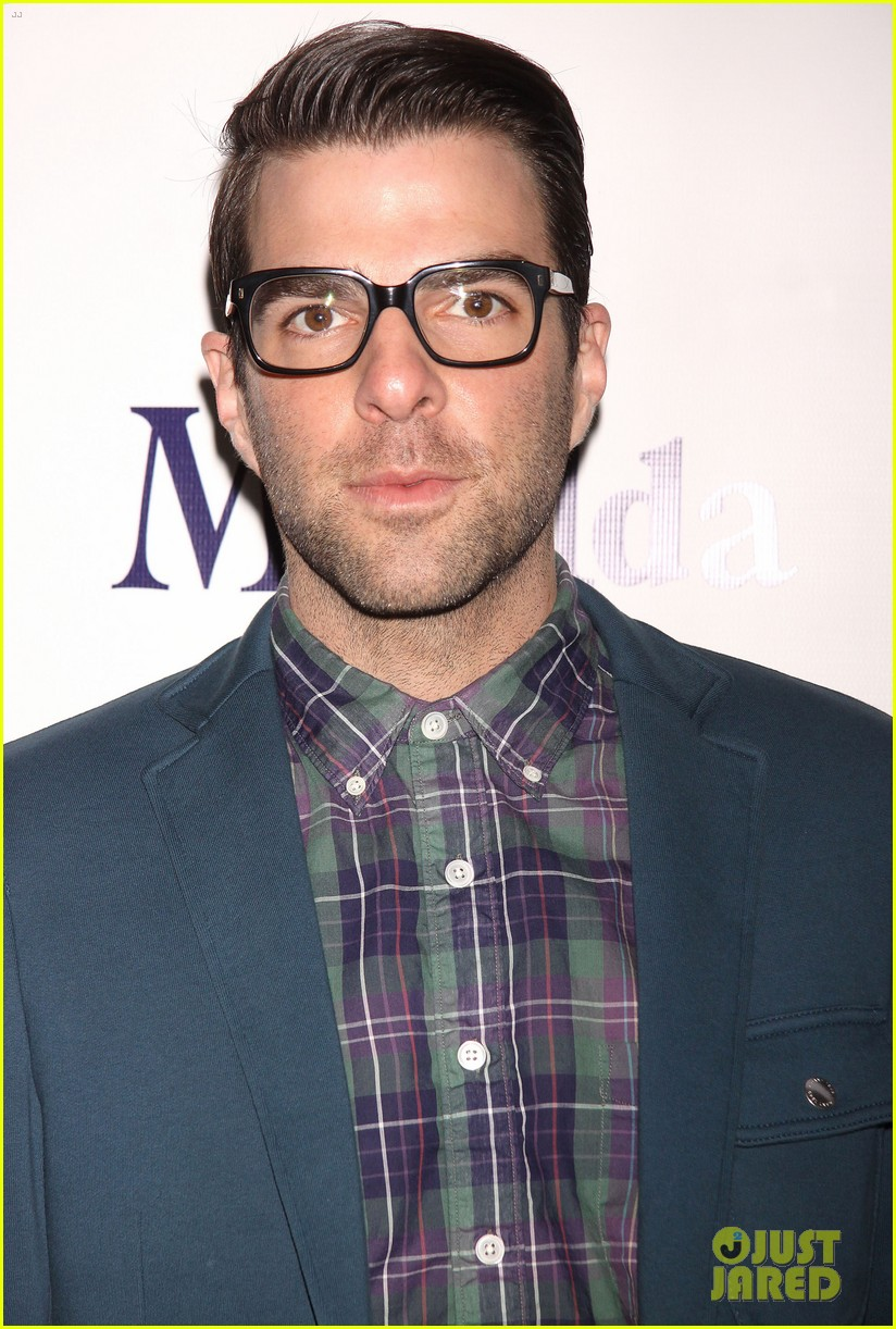 zachary quinto megan hilty matilda opening night 13