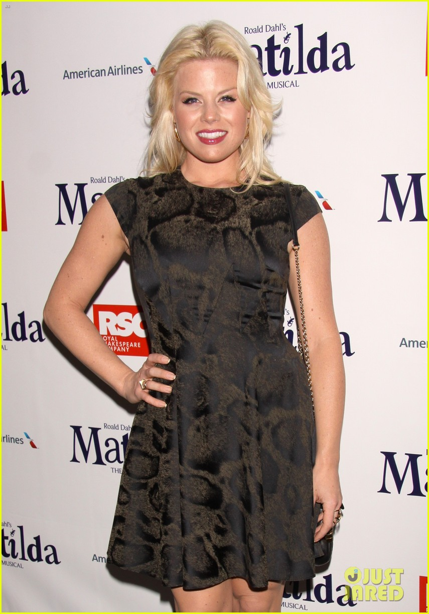 zachary quinto megan hilty matilda opening night 17