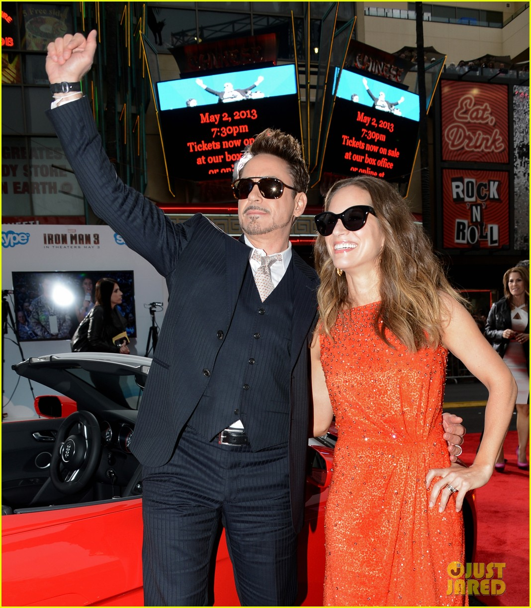 robert downey jr guy pearce iron man 3 premiere 082857573