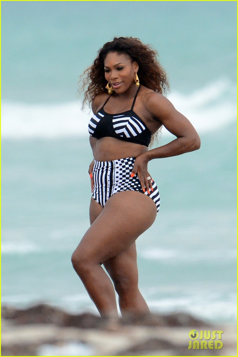 serena williams bikini beach photo shoot 19