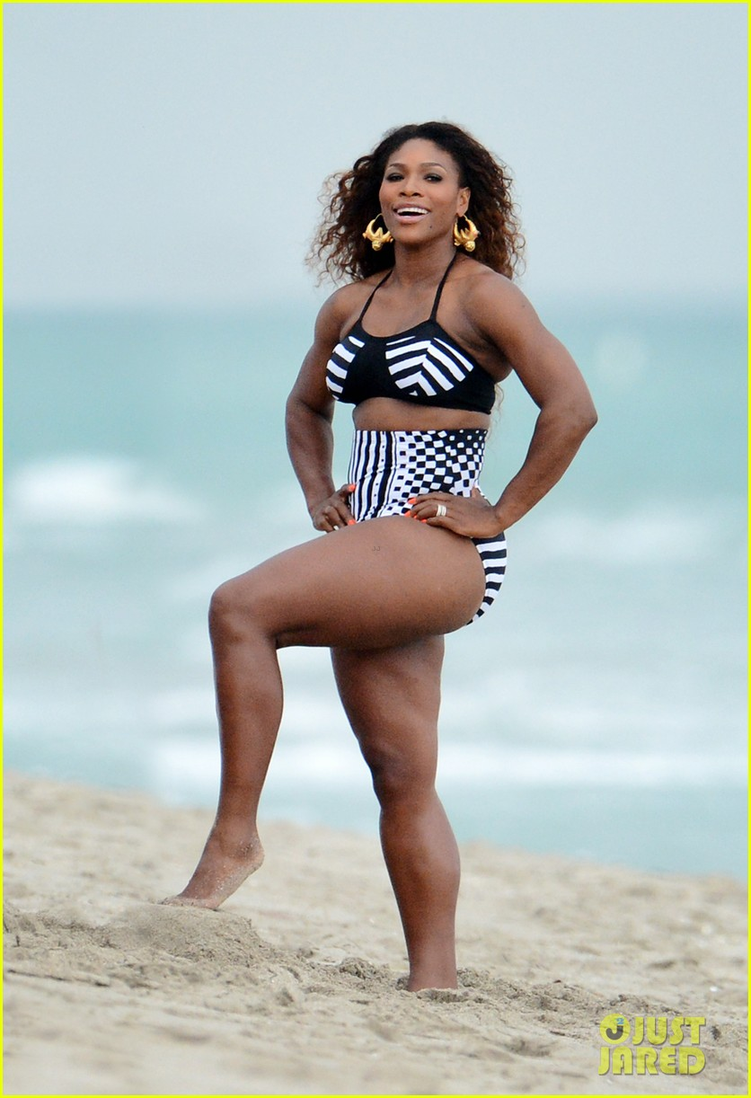 serena williams bikini beach photo shoot 29