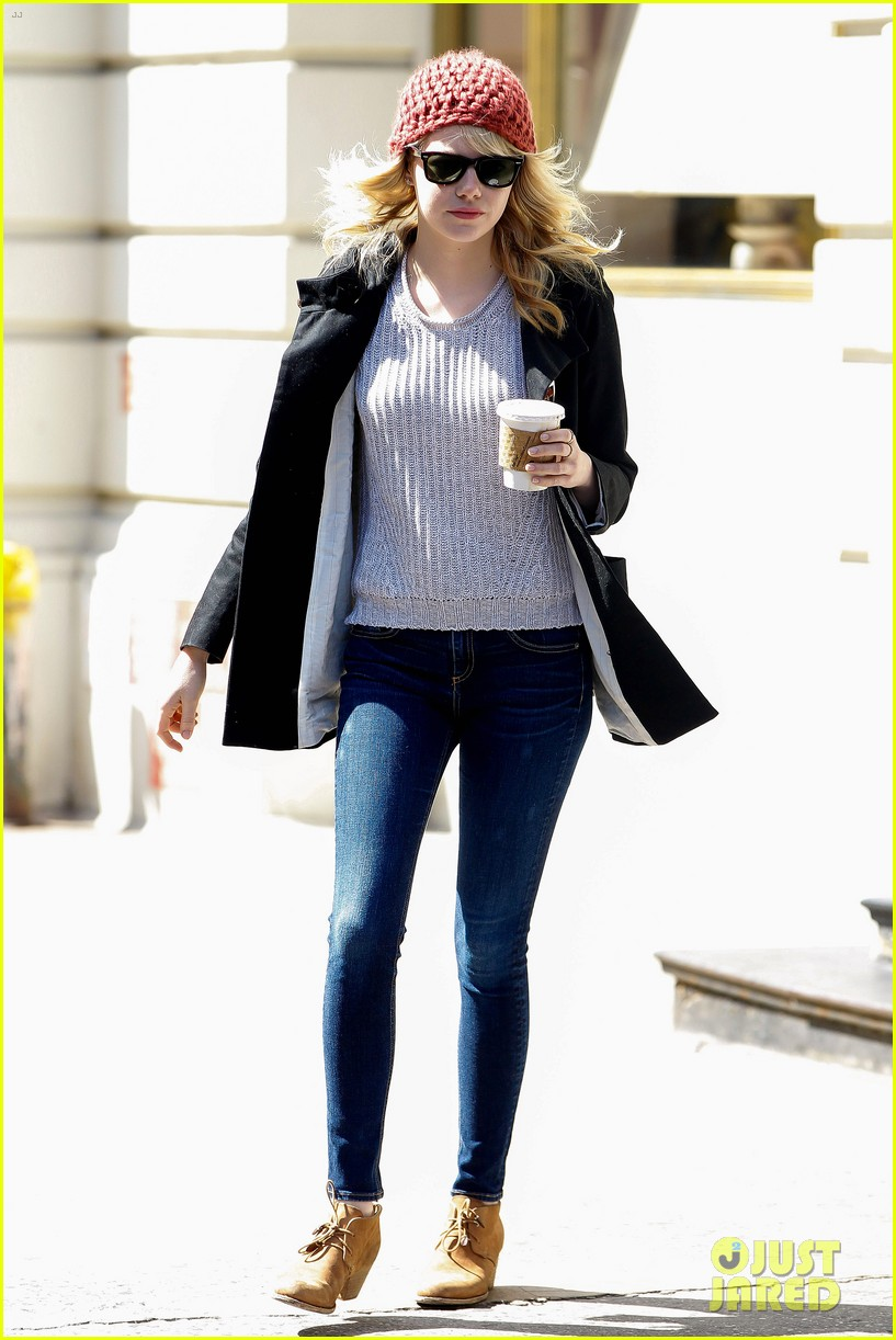 emma stone andrew garfield bubbys coffee couple 162855811