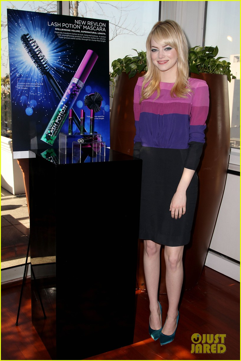 emma stone revlon mascara launch 082857277