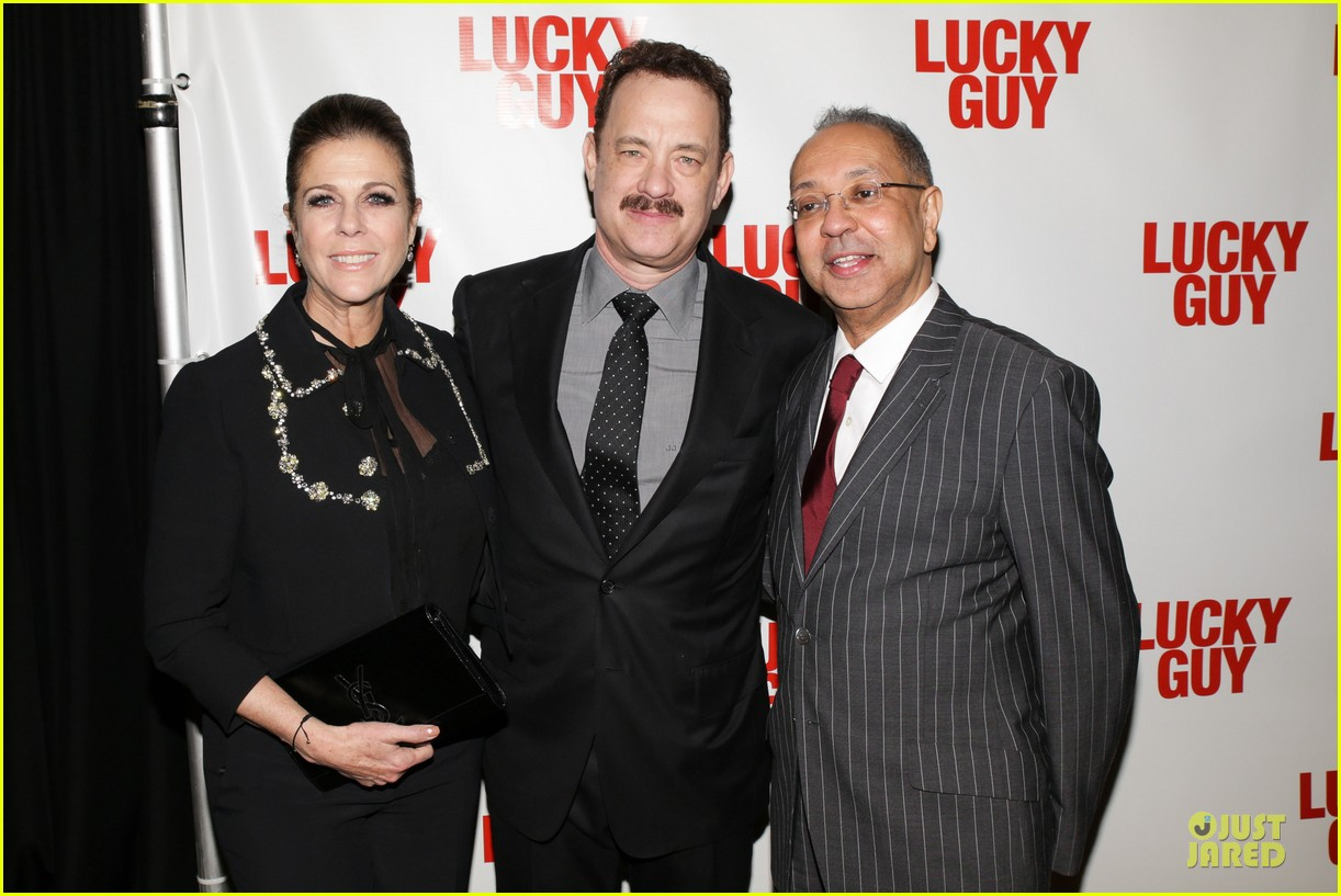 chrissy teigen tom hanks lucky guy broadway opening night 262841852