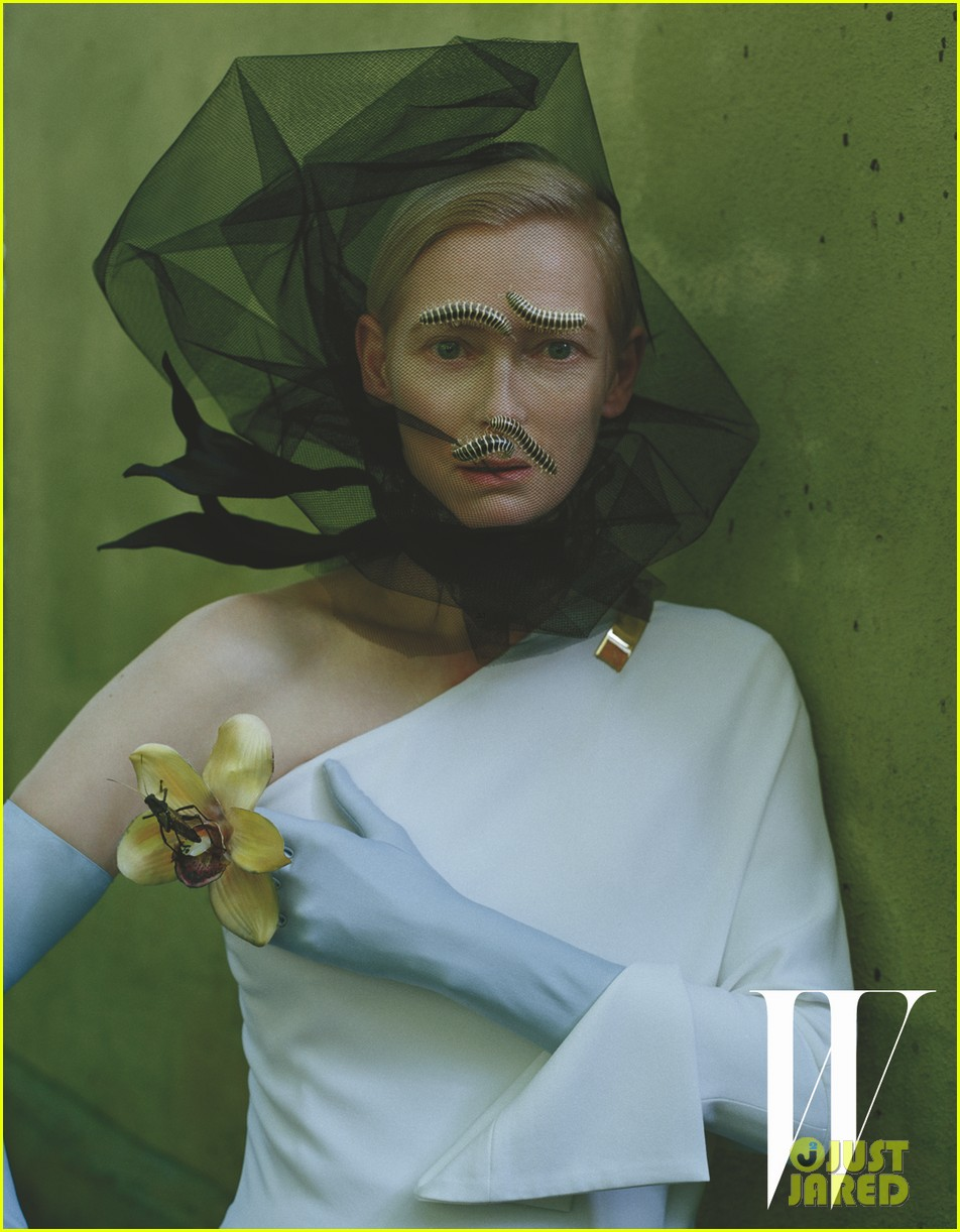 tilda swinton caterpillar covered for w magazine 05
