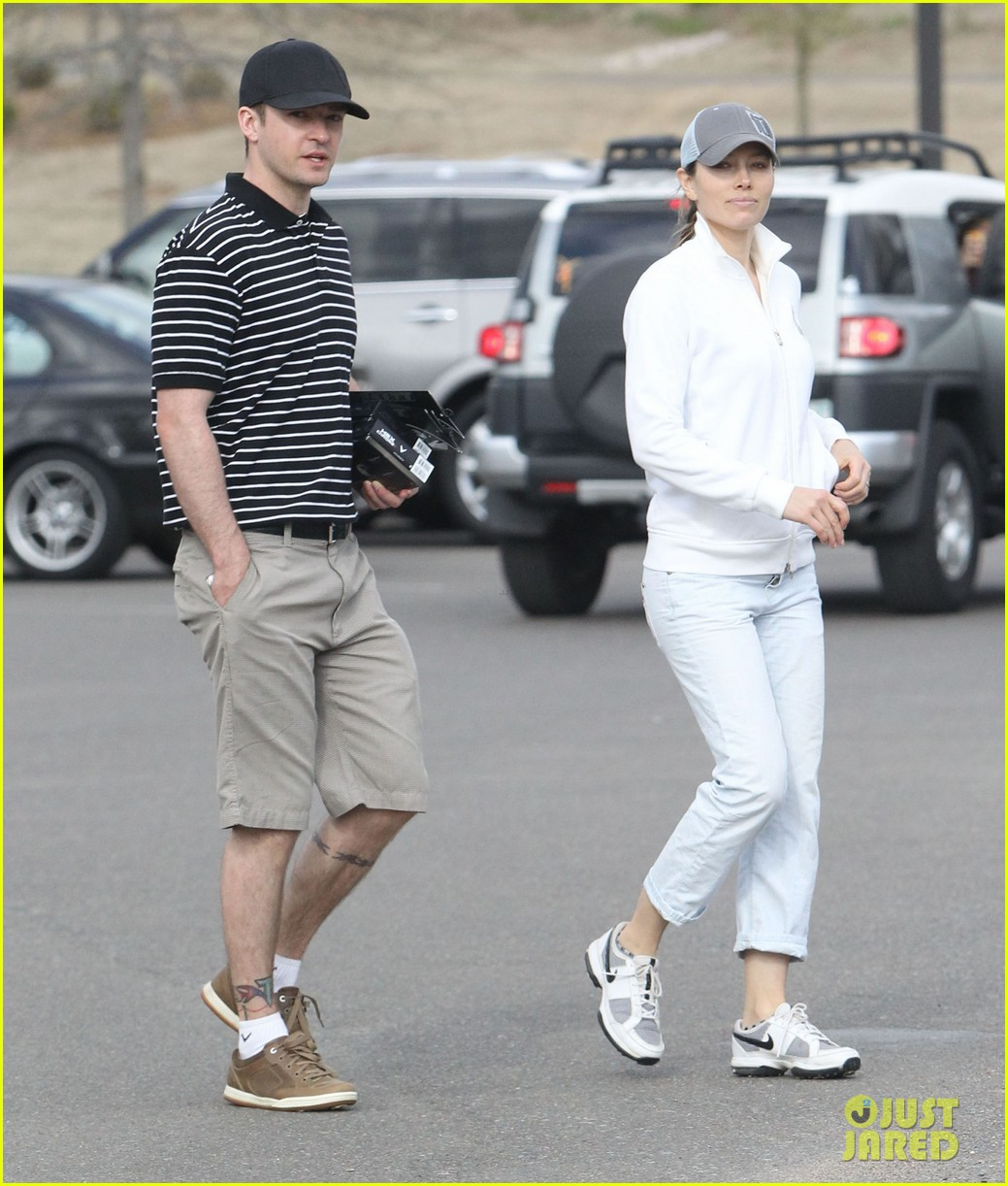 justin timberlake jessica biel golf date duo 01