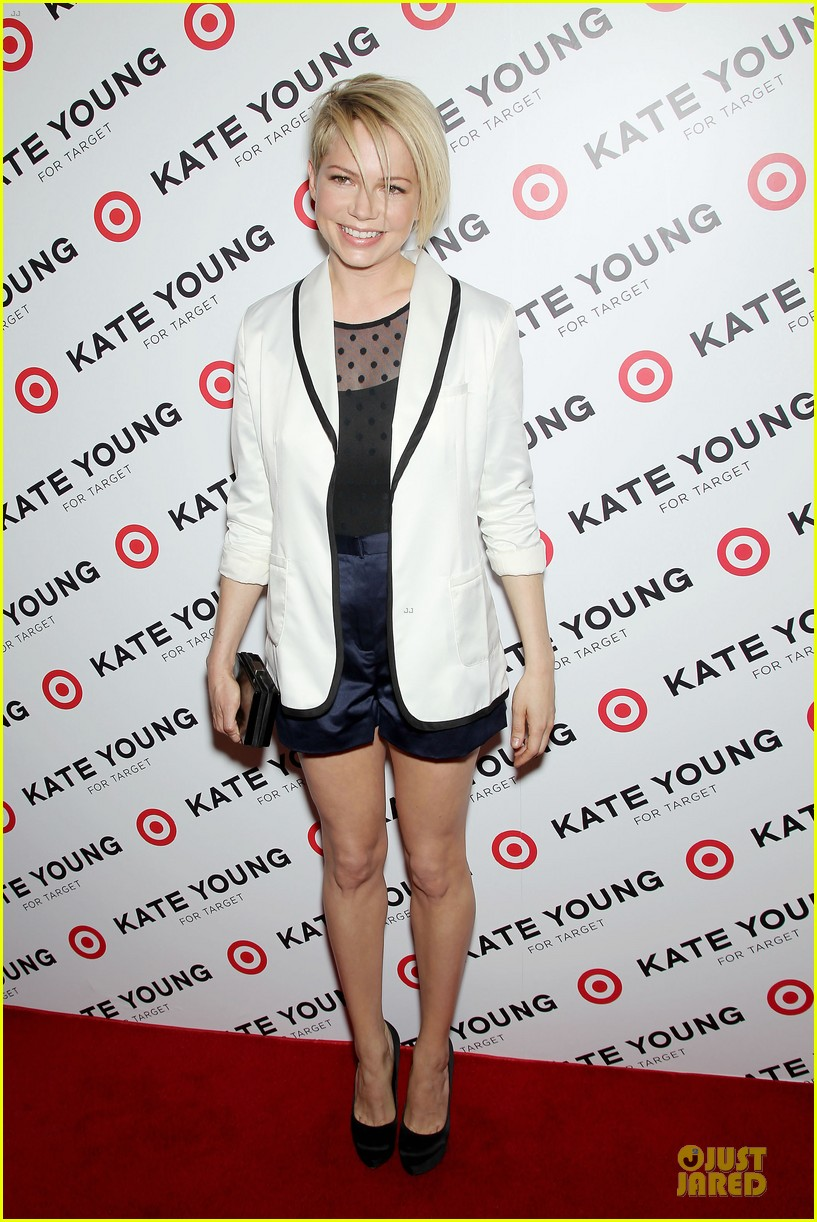 michelle williams haircut debut at kate young for target launch 032846435