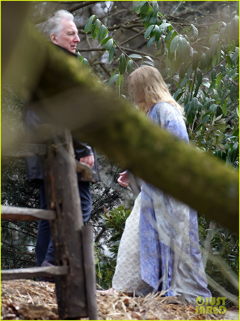 kate winslet a little chaos set with alan rickman 09