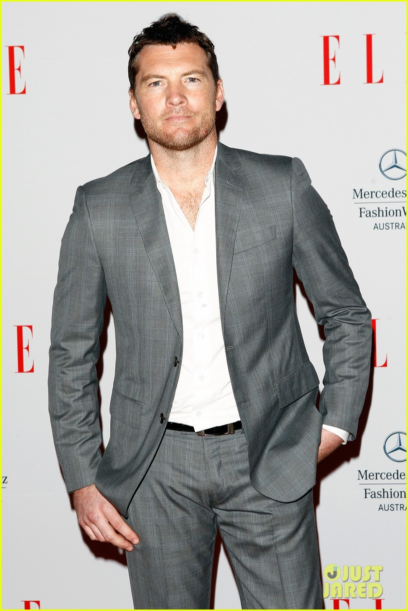 sam worthington hello elle australia fashion show 02